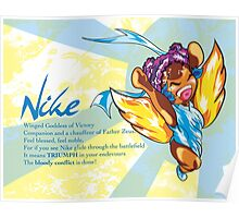 Chibi Nike - Greek Gods, Blue Series Poster