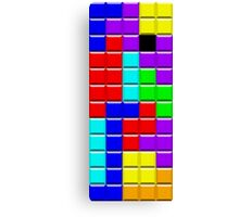 Colorful Tetrominoes Canvas Print