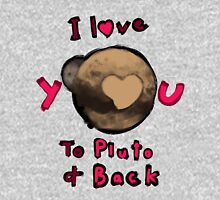 Love You to Pluto and Back Womens Fitted T-Shirt