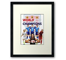 USWNT WORLD CUP CHAMPIONS Framed Print