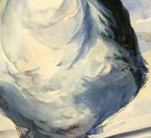 San Francisco seagull: pen and wash Sticker