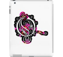 LATTICE LETTER O - black metal orchid sticker iPad Case/Skin