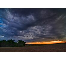 End of a Supercell Storm Photographic Print
