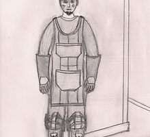 Character Sketch - One man, iron worker by klokked