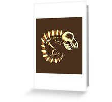 Dino Fossils Greeting Card
