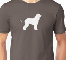 Irish Water Spaniel Silhouette (White) Unisex T-Shirt