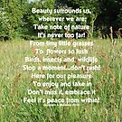 Beauty surrounds us Inspirational card by sarnia2
