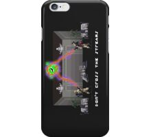 Don't Cross the Pixels iPhone Case/Skin