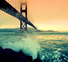 Golden Gate Pink Dusk by posterity