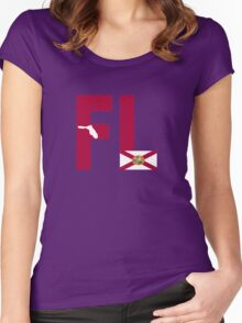FL= Florida State Women's Fitted Scoop T-Shirt