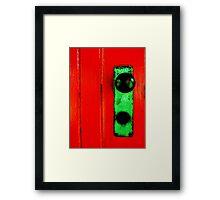 """""""Redrum"""" Framed Print"""