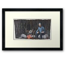 Camping in Forest Framed Print