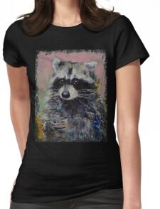 Raccoon Womens Fitted T-Shirt