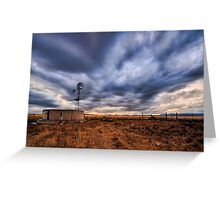 Cold Front Windmill Greeting Card