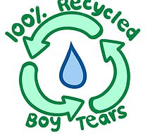 100% Recycled Boy Tears by Kelly Bell