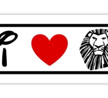 I Heart The Lion King (Classic Logo) Sticker