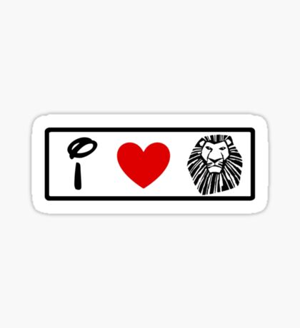 I Heart The Lion King (Classic Logo) Sticker