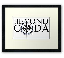 Beyond Coda Dark Logo Framed Print