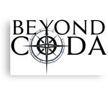 Beyond Coda Dark Logo Canvas Print
