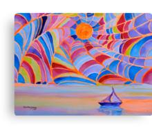 Lost Sailboat in the Bermuda Web Canvas Print