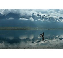 The reflections of Dal Lake     Photographic Print