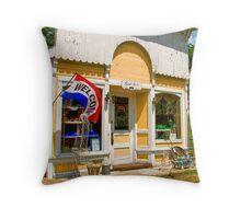 Rural Town Store Throw Pillow