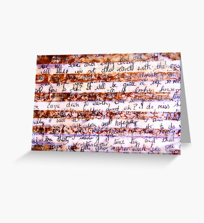 The Lost art of letter writing #2 Greeting Card