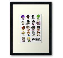 Ninjago Season 4  Framed Print