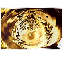 Golden Bubbles Poster