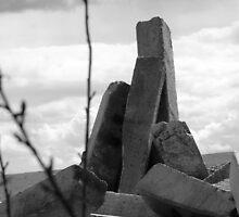 abandoned concrete railway sleepers by lozzyrane