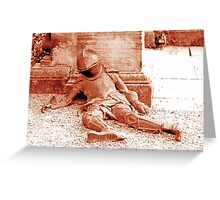 Fallen Soldier, Harewood House Greeting Card