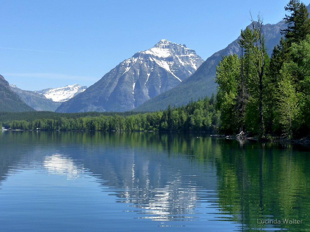 Glacier at Lake McDonald by Lucinda Walter