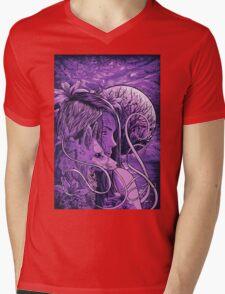 purple fox Mens V-Neck T-Shirt