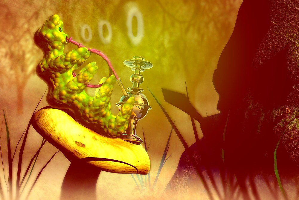 """Hookah-smoking caterpillar from """"Alice in Wonderland"""" by Carol and Mike Werner"""