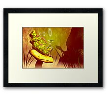 "Hookah-smoking caterpillar from ""Alice in Wonderland"" Framed Print"