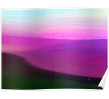 Magenta Sunset Poster