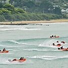 Out to the cans at Lorne (wider view) by Andy Berry