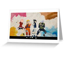 Team 7 - Naruto Greeting Card