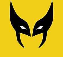 Wolverine Mask Minimalist by Fardan Munshi