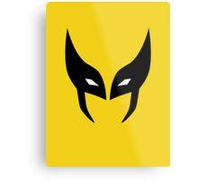 Wolverine Mask Minimalist Metal Print