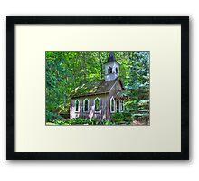 Little Chapel in the Woods Framed Print