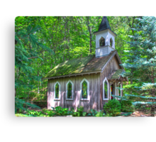 Little Chapel in the Woods Canvas Print