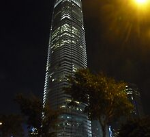 Hong Kong tower at night by tatsuguwa