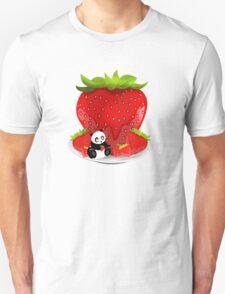 Panda & Strawberries  T-Shirt