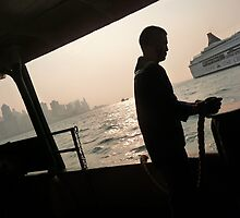 Hong Kong Evening Ferry Ride by tatsuguwa