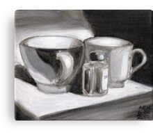 Ink and Cups Canvas Print