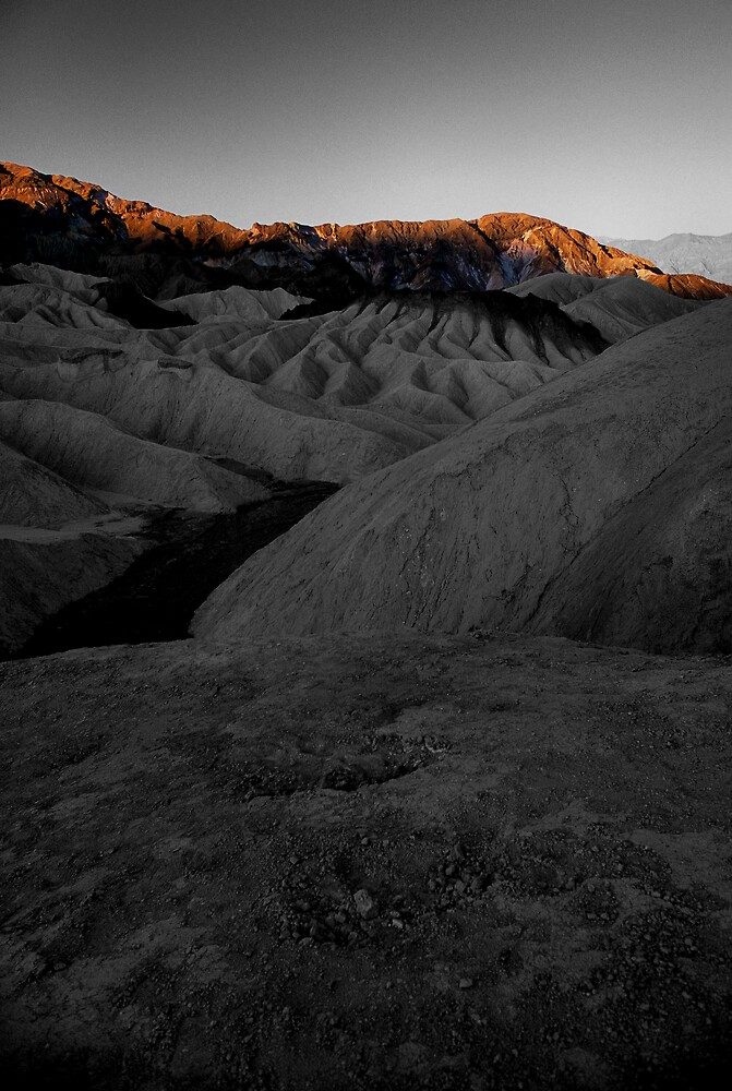 Morning Light On Zabriskie Point, Death Valley CA select color by Tom Fant