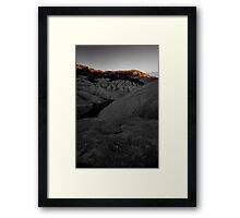 Morning Light On Zabriskie Point, Death Valley CA select color Framed Print