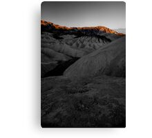 Morning Light On Zabriskie Point, Death Valley CA select color Canvas Print