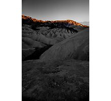 Morning Light On Zabriskie Point, Death Valley CA select color Photographic Print